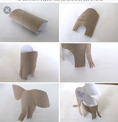 elephant from toilet paper roll Projects For Kids, Diy For Kids, Crafts For Kids, Arts And Crafts, Toilet Roll Craft, Toilet Paper Roll Crafts, Toddler Crafts, Preschool Crafts, Crafty Kids