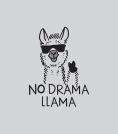 Be a no drama llama.. (Altho I much prefer the cuter alpaca)