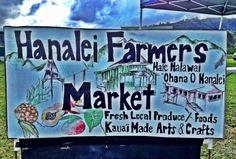 Hanalei Farmers Market - Kauai - Saturdays 9:30-noon #EscapeToKauai