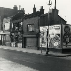 - Billboard advertising in Roman Road, Bow. Familiar products still (except the Cooperative's Cremo Oats) Vintage London, Old London, Victorian London, Blitz London, London Pictures, London Photos, London History, British History, London Drawing