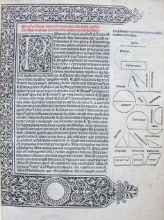 016► Euclid, Elementa geometriae (Venice: Erhard Ratdolt, 1482).