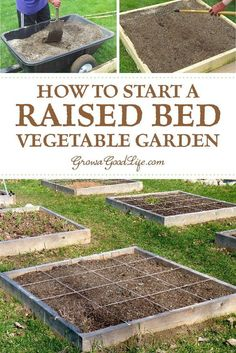 - How to Build a Square Foot Garden Are you starting a new vegetable garden? A raised bed or square foot garden is worth considering if you are just starting a garden or want to expand your garden quickly with no digging or tilling required.