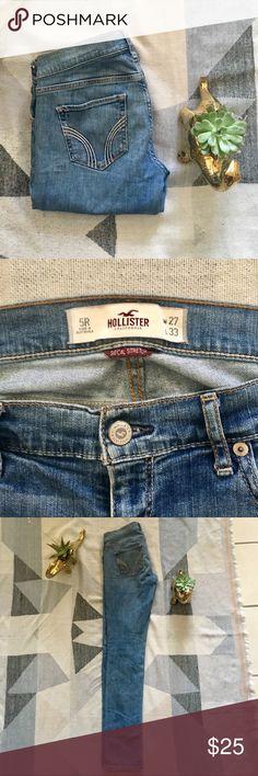 Hollister Light Wash Laguna Skinny Jeans Hollister Light wash Laguna Skinny denim jeans Hollister Jeans Skinny