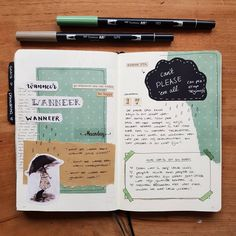 Nieuwe spread in m'n journal. En van deze pagi… – New spread in my & # n journal. Bullet Journal 2019, Bullet Journal Ideas Pages, Bullet Journal Spread, Bullet Journal Inspiration, Art Journal Pages, Art Journals, Bullet Journals, Scrapbook Journal, Journal Layout
