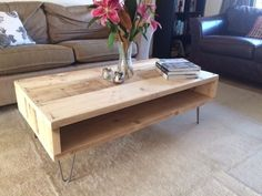 Reclaimed Scaffold Board Coffee Table with aged Steel Hairpin Legs in Home, Furniture & DIY, Furniture, Tables Diy Furniture Table, Deco Furniture, Colorful Furniture, Unique Furniture, Repurposed Furniture, Pallet Furniture, Furniture Plans, Rustic Furniture, Luxury Furniture