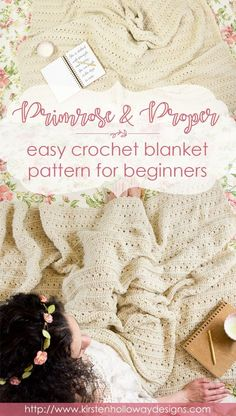 This beautiful, free crochet pattern for beginners incorporates simple stitches that give the blanket a vintage/Victorian feel. Multiple sizing instructions are included so you can make this as a baby blanket, throw, or King/queen size afghan! The pattern