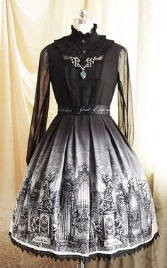 Forest Of Pipe Organ gothic lolita jumper skirt by AugustMoonJp, ¥20000