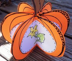 the life cycle of a pumpkin, this is such a cute idea. or without life cycle Pumpkin Art, Pumpkin Crafts, Fall Crafts, Halloween Crafts, Holiday Crafts, Pumpkin Painting, Fall Preschool, Kindergarten Science, Preschool Halloween