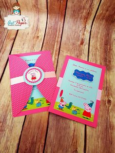 25 Peppa Pig invitations personalized invitations by ArtPaperParty
