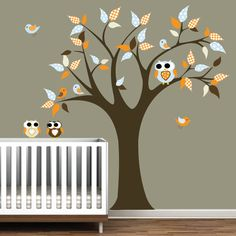 might try this in the nursery but do it ourselves with paint and scrap-booking paper