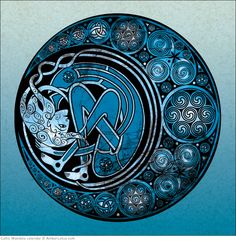 Celtic Mandala 2015 wall calendar by Jen Delyth. Click through to see our current calendar selection! #celticknot