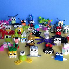 Mini Party Critters Made with LEGO® bricks /  Party Favor / Kids birthday, Monsters, gift, fun, STOCKING STUFFER, Trick or Treat