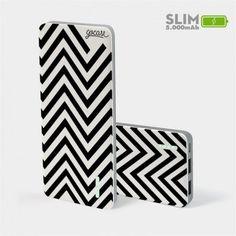 Carregador Portátil Power Bank Slim (5000mAh)  - Black Listras