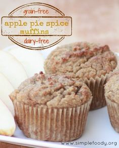 Apple Pie Spice Muffins {grain-free, dairy-free}