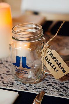 Custom Mason Jar Wedding Favors