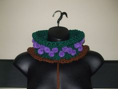 Knit & Crochet Grapevine Cowl  Pom Pom Cowl by Sydric on Etsy, $11.00