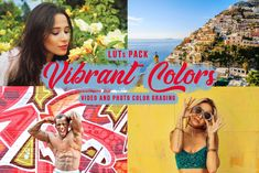 Vibrant Color LUTs - Vivid filters for color grading in Adobe Premiere Pro, Final Cut, Filmora, Photoshop, Pinnacle and more Pink Film, Video Filter, Font Digital, Wedding Presets, Professional Lightroom Presets, Photoshop Images, Color Grading, Adobe Premiere Pro, Photo Colour