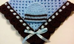 This beautiful hand crocheted granny square baby blanket is made of 100% baby soft yarn. It is made out of a very good high quality yarn.  Very soft and colorful blanket and hat set.  Beautiful...@ artfire