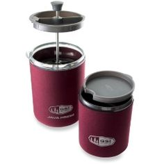 Never hike or paddle without GSI Personal Java Press Coffee Maker