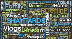 Shaytards and the words that define their videos. These people who make daily vlogs on YouTube have changed my life. <3
