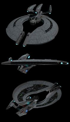Federation Dreadnought Angled views by calamitySi.deviantart.com on @deviantART