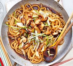 Yaki udon Just 2 steps & on the table in 15 minutes. Serves 2