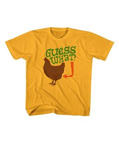 Look at this Gold Chicken Tee - Toddler & Kids on #zulily today!