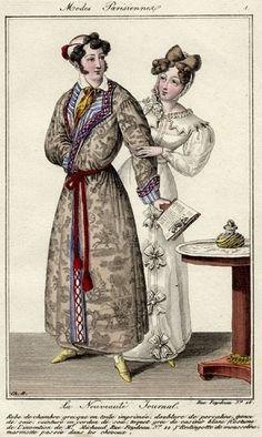 Modes Parisiennes 1825. Regency fashion plate.