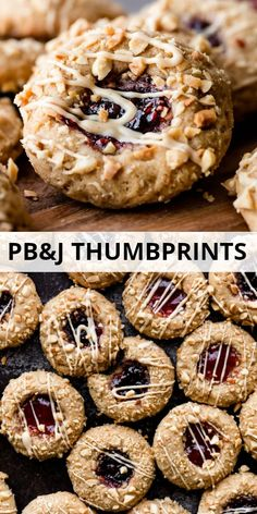 These peanut butter and jam thumbprints cookies combine extra soft peanut butter cookies, salty peanuts, and a sweet jam filling. Use your favorite jelly flavor like strawberry, grape, or raspberry. Recipe on sallysbakingaddic. Homemade Peanut Butter Cookies, Classic Peanut Butter Cookies, Butter Chocolate Chip Cookies, Peanut Butter Oatmeal, Healthy Peanut Butter, Peanut Cookies, Gooey Butter Cookies, The Oatmeal, Jelly Cookies