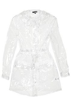 New Womens Houndstooth Patterned Transparent Lightweight Festival Rain Mac Coat
