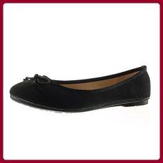 Angkorly - damen Schuhe Ballerina - Slip-On - Knoten - Geflochten flache Ferse 1 CM - Schwarz 883-89 T 39 - Ballerinas für frauen (*Partner-Link)