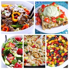A week's worth of meals packed with lean protein, fresh vegetables and tasty fruit. Enchiladas, Pepper Steak, Strawberry Salad, Veggie Mac & Cheese and more!
