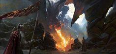 Dragon Valley, Grzegorz Rutkowski on ArtStation at https://www.artstation.com/artwork/Aadao
