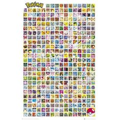 POKÉMON characters Poster (7815 IQD) ❤ liked on Polyvore featuring home, home decor and wall art