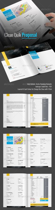 Clean Quik Proposal Creative & Clean Corporate Business/Project Proposal for Quick Use 8 pages professional Business Proposal for multi-purpose use, hi-quality design, Clean, professional and modern Proposal template saves your time & cost.