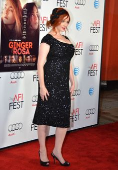 """Christina Hendricks attends """"Ginger & Rosa"""" Special Screening during the 2012 AFI Fest in a L'Wren Scott dress. Posted on November 8th, 2012, at TomAndLorenzo.Com. (View #5 of 5)"""