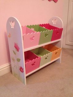 VERTBAUDET★Wooden Storage Unit Toy Box Shelves★Girls Kids Room★ uk picclick com is part of Children room girl - Wooden Projects, Wooden Crafts, Regal Design, Box Shelves, Little Girl Rooms, Wood Toys, Toy Storage, Toy Boxes, Kids Decor