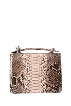 CASHHIMI Annapolis Clutch Purse made of Python Leather is brown and entirely hand-crafted.