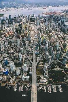 Aerial view of downtown Vancouver, Canada. Aerial view of downtown Vancouver, Canada. Places Around The World, Oh The Places You'll Go, Places To Travel, Travel Destinations, Places To Visit, Around The Worlds, Voyager Loin, Banff, Canada Travel