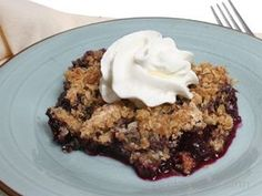 Instant oatmeal packets have almost everything needed for a fruit crisp. I made blueberry crisp with a cinnamon instant oatmeal! yum