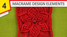 How to make Macrame flower - Useful Design Elements for your macrame projects. #HowTo #Macrame #Flowers