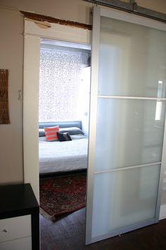 Pax Armoire Doors Get New Life As Barn Doors   IKEA Hackers  Need To Find  Barn Door Rails?