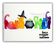 Rainbow Halloween Cats by Understand Blue