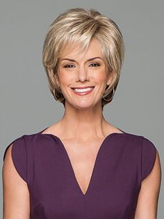 Buy Prodigy by Gabor Wigs Online Synthetic Lace Front Wigs, Synthetic Wigs, Trending Hairstyles, Cool Hairstyles, Short Hair Cuts, Short Hair Styles, Gabor Wigs, Blonde Layers, Monofilament Wigs