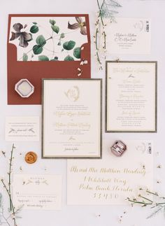 Classic Palm Beach Wedding Filled With Chic Details Palm Beach Wedding, Place Cards, Stationery, Place Card Holders, Chic, Classic, Shabby Chic, Derby, Elegant