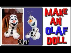How To Make an Olaf Doll - Loom Knitting - http://www.knittingstory.eu/how-to-make-an-olaf-doll-loom-knitting/