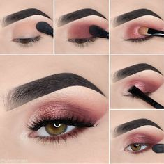 Here we have compiled simple eye makeup tips pictures. They can help you become an eye makeup expert. You can also easily get the perfect eye makeup. Makeup Eye Looks, Eye Makeup Steps, Simple Eye Makeup, Makeup Goals, Makeup Tips, Beauty Makeup, Makeup Ideas, Men Makeup, Drugstore Beauty