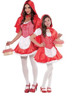 Mommy and me Red Riding Hood costumes