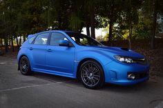 Subaru Impreza wrapped in Blue Aluminium #arlon #wrapped #blue #subaru #impreza #sti