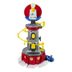 Nickelodeon Paw Patrol, Mighty Pups Super Paws Lookout Tower Playset with Lights & Sounds, for Ages 3 & Up, Multicolor Paw Patrol Tower, Paw Patrol Pups, Cumple Paw Patrol, Trap Door, Lookout Tower, 3 Year Olds, Top Toys, Toys R Us, Fire Trucks